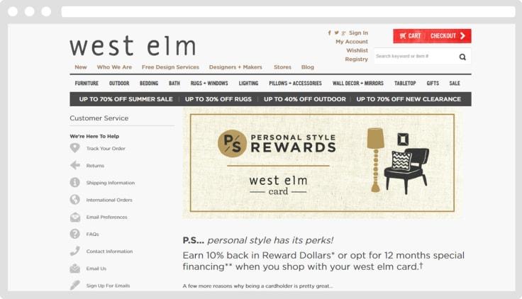 West Elm loyalty program