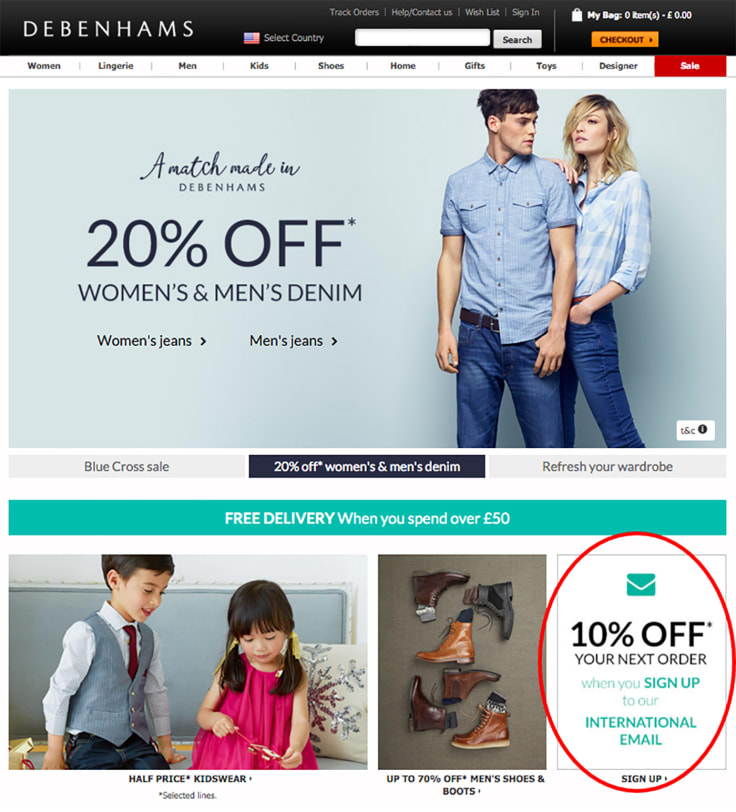 Online store discounts
