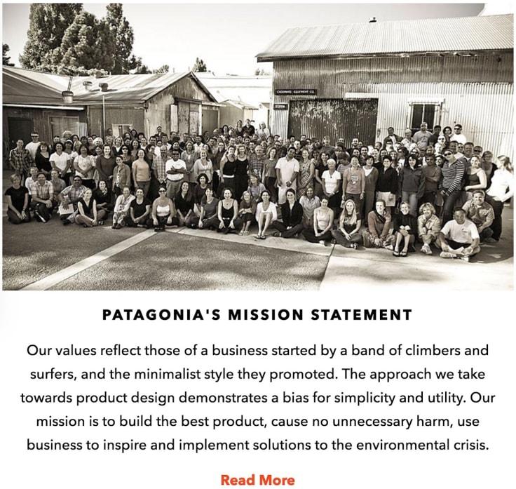 Patagonia's mission statement