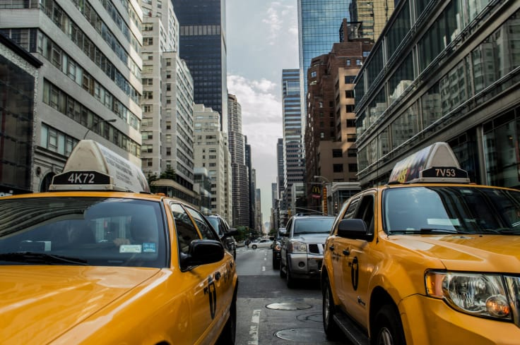 City traffic taxi cabs how to drive traffic to your website