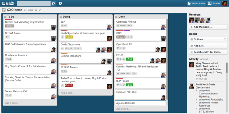 Planning a marketing strategy with Trello