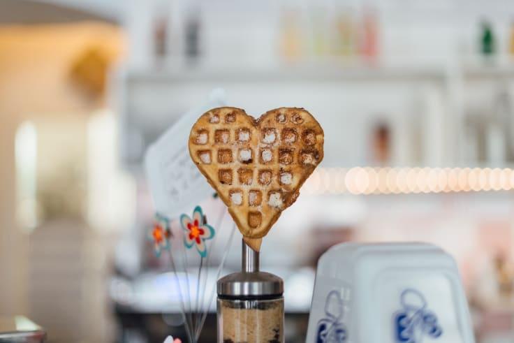 Heart shape waffle