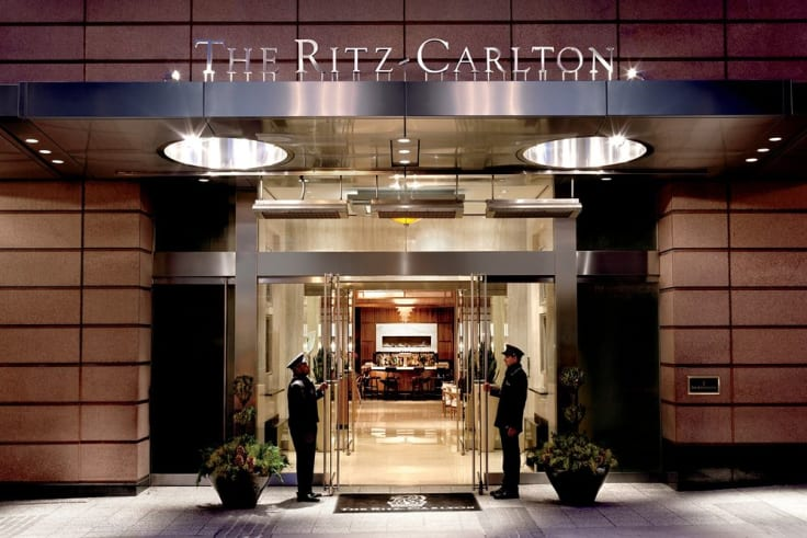 Ritz carlton hotel entrance