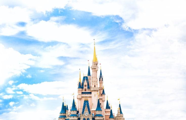 Disney castle top sky clouds