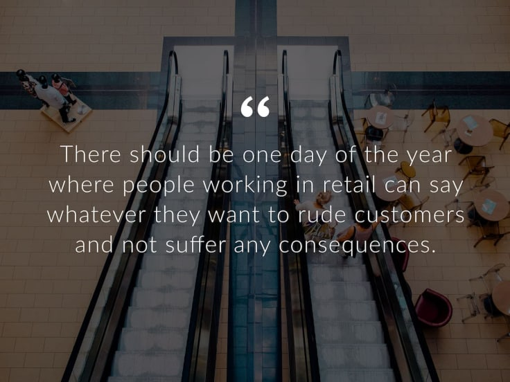 People working in retail