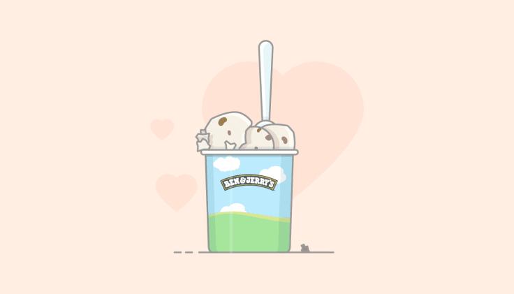 Ben&jerry's ice cream illustration best customer service stories