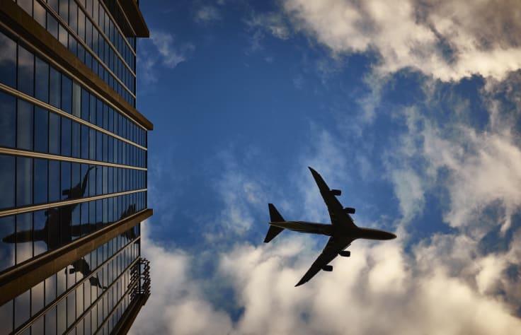 Airplane sky