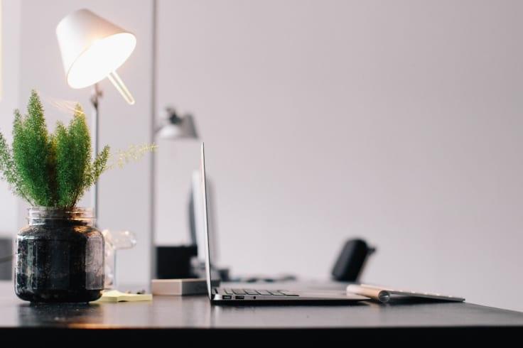 Work table laptop lamp