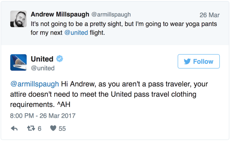 United Airlines tweets