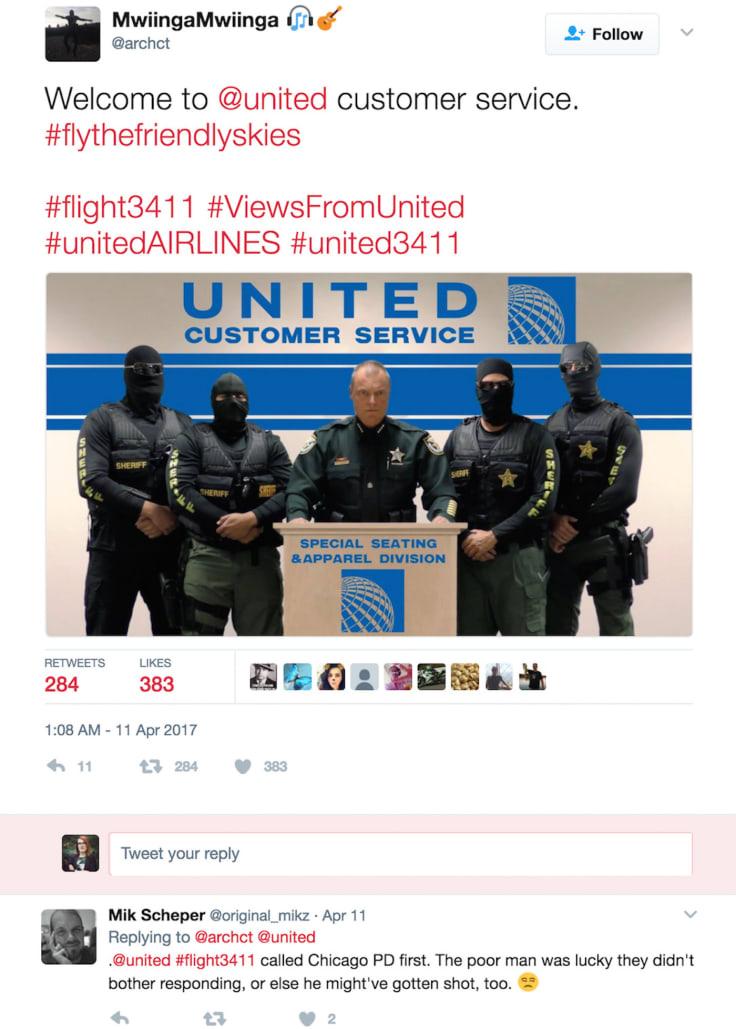 United Airlines incident tweet