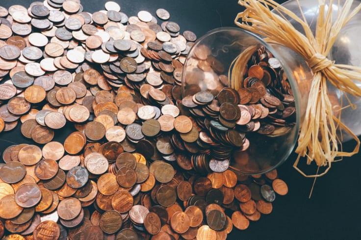 Plenty coins money