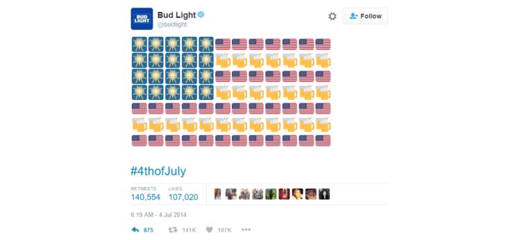 Budlight emoji campaign