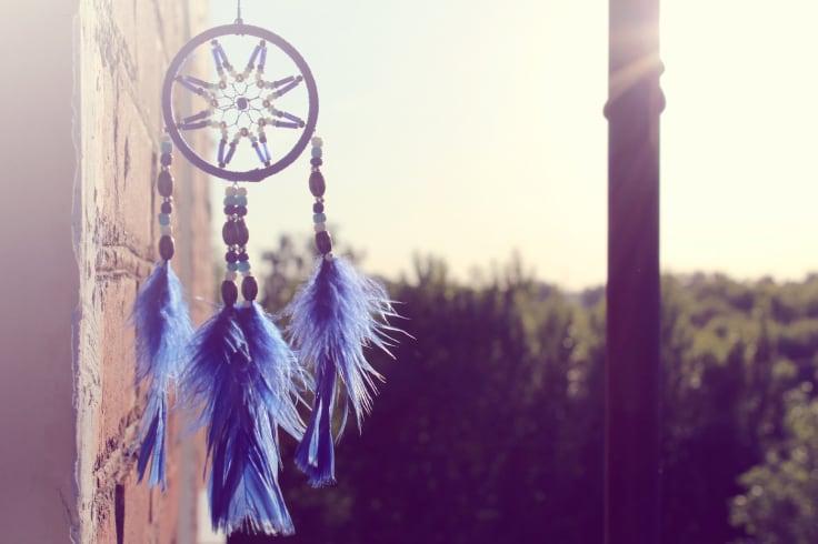 Blue dreamcatcher sun