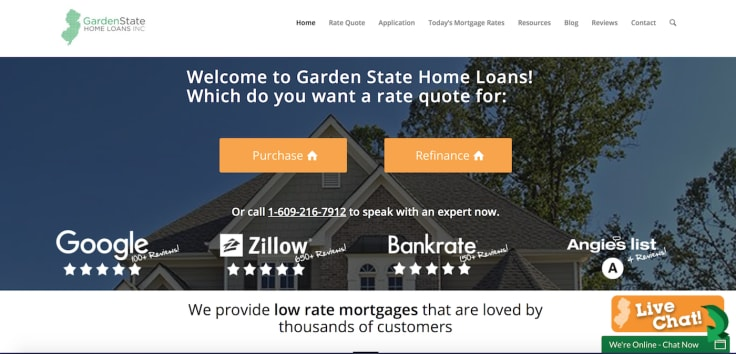Garden state home loans eye catcher