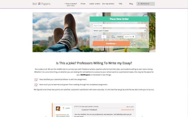 Bid papers website
