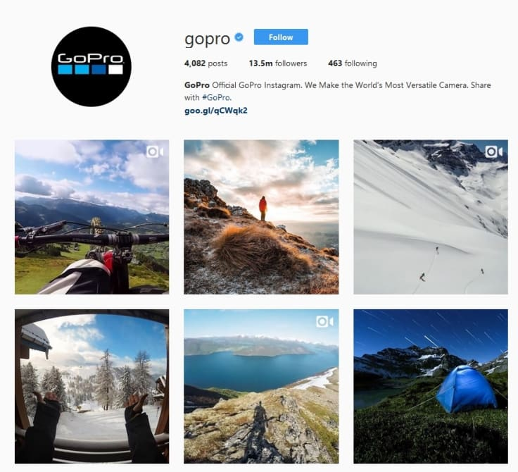 Gopro example for user generated content improving buying process on instagram' class=