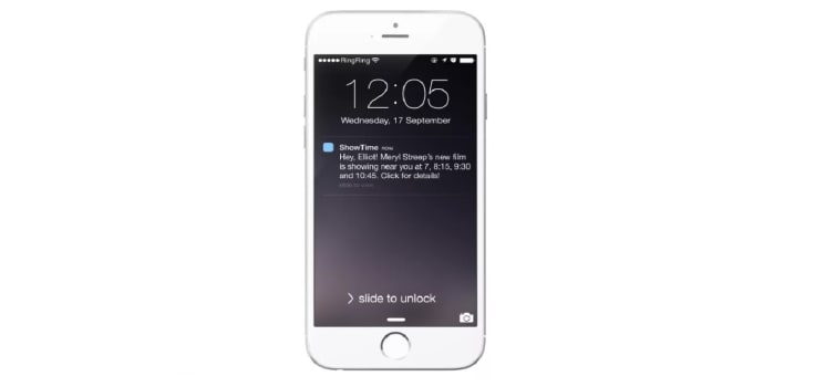 Personalized text messaging example