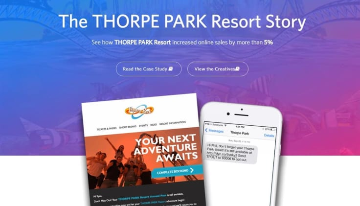 Thorpe park unfinished book sms ecommerce