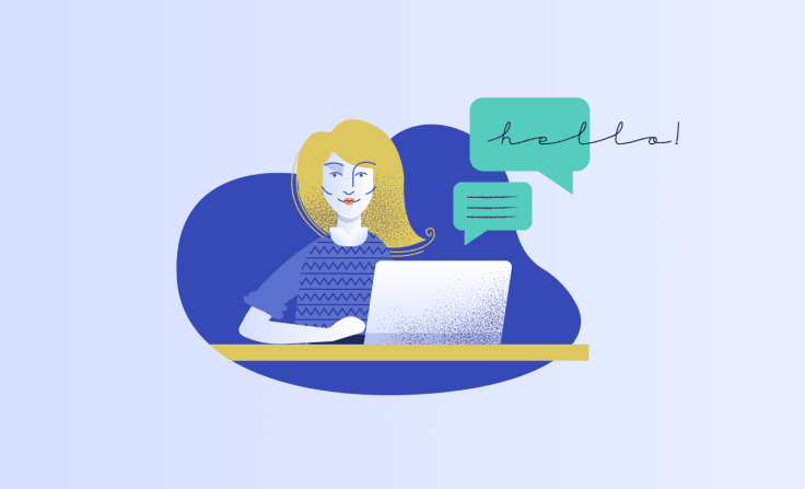Online communication graphics