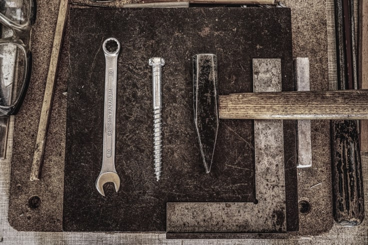 Hammer nail metal tools