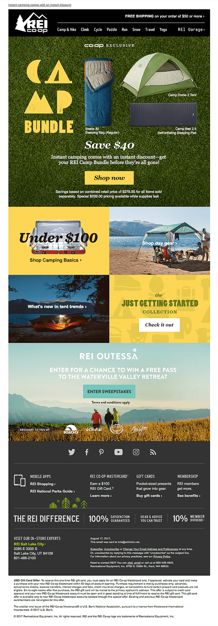 Rei co op font pairing email