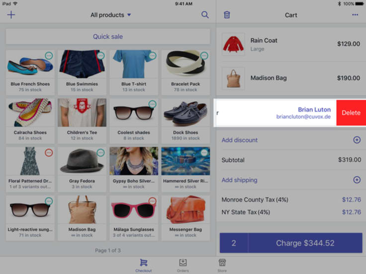 Shopify POS customer profiles