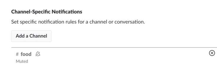 Slack channel specific notifications