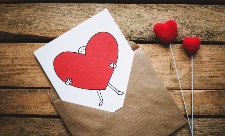 Email personalization techniques valentines card