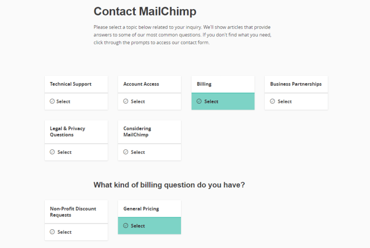 Mail-chimp partially self-help solution