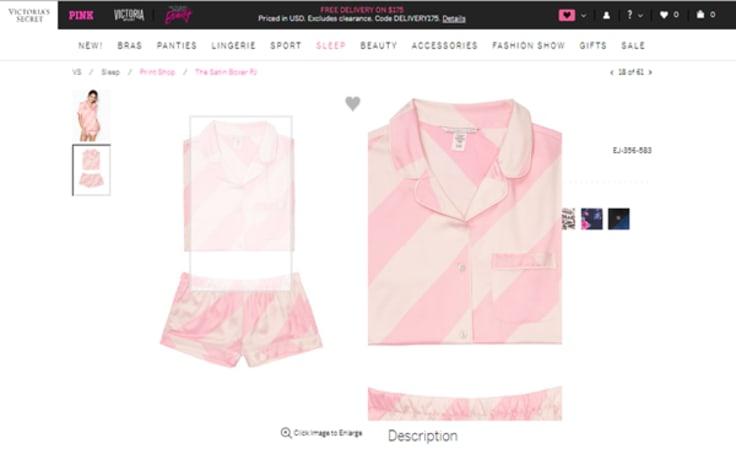 Victoria's Secret e-commerce