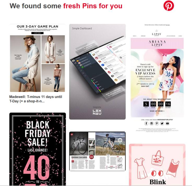 Pinterest newsletter