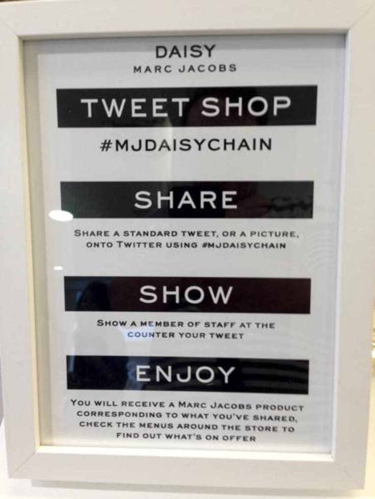 Marc Jacobs Daisy inspiring social media campaign