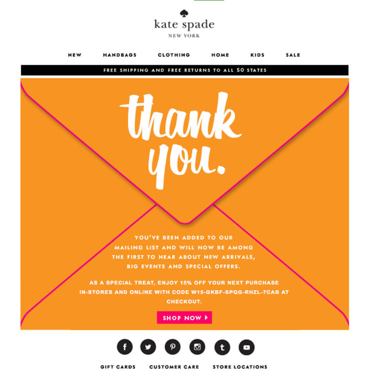 Kate Spade email automation