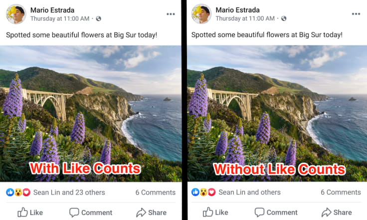 Facebook without likes