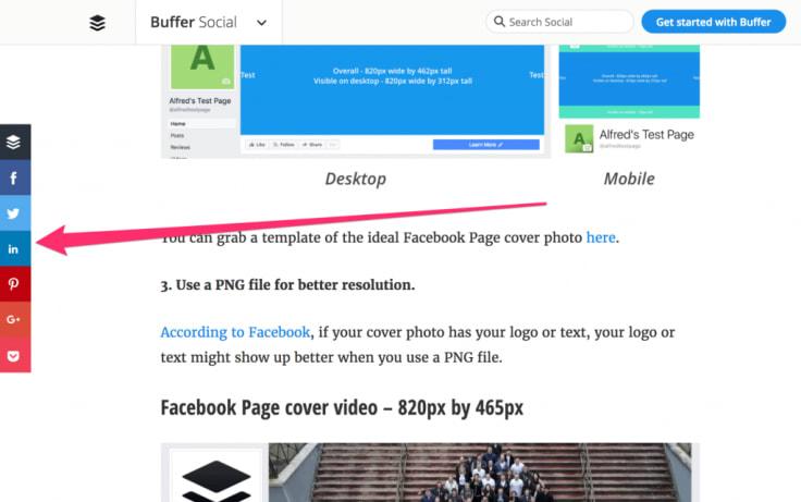 buffer social sharing cta