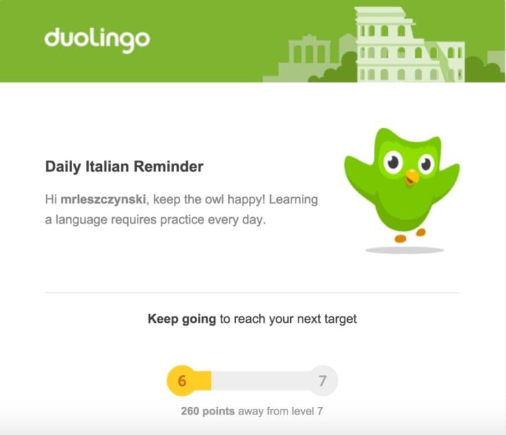 Duolingo Daily Italian Reminder