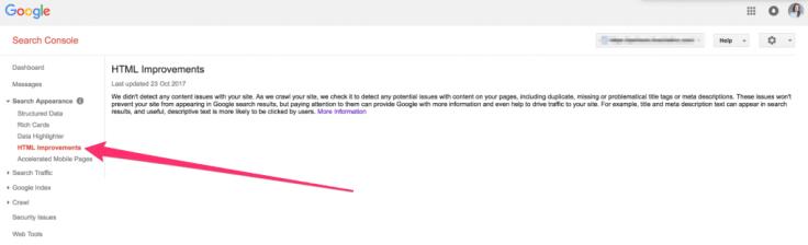google search apperance html improvements