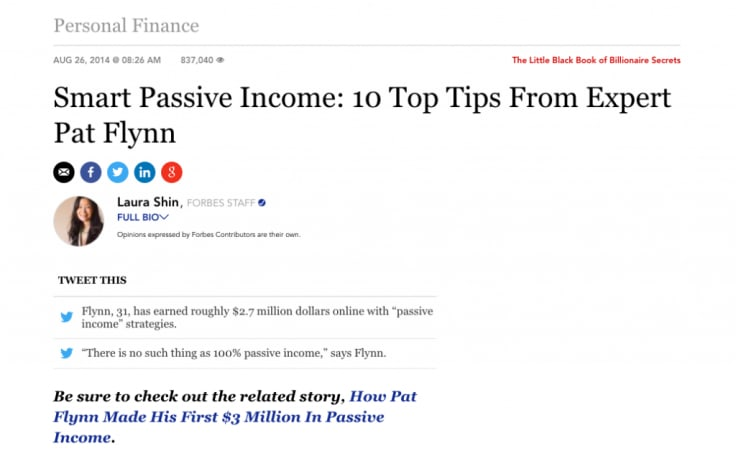 forbes smart passive income article