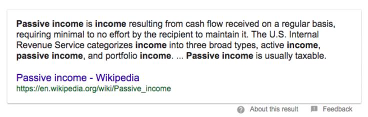 passive income definition