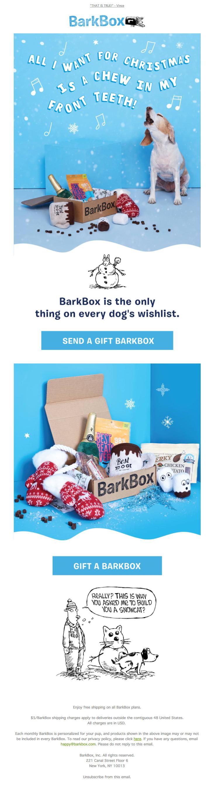 barkbox email marketing