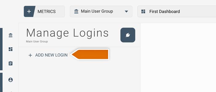 Click on add new login