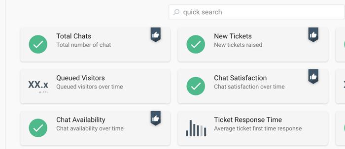 Select metrics