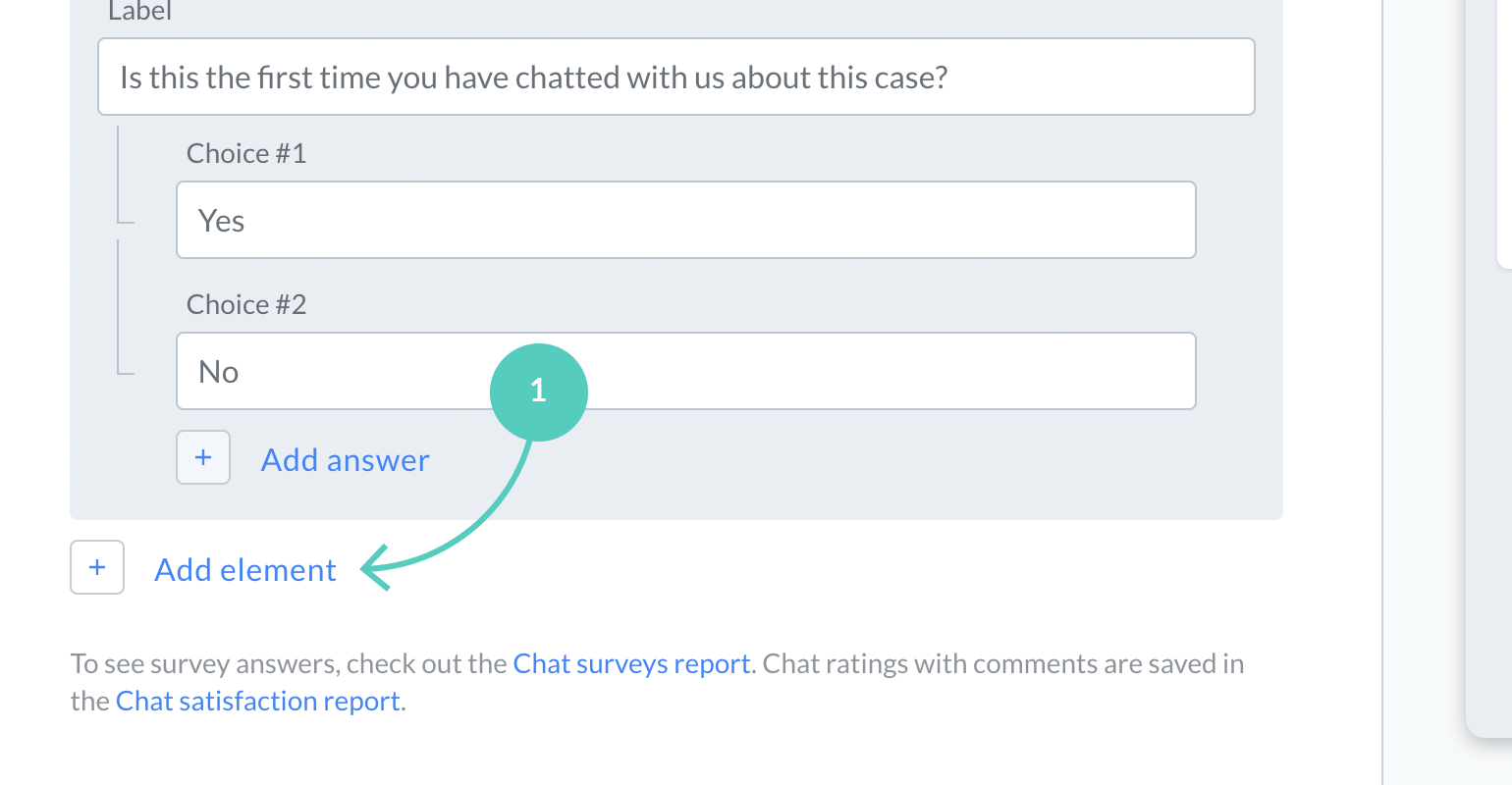 Add a field to post chat survey