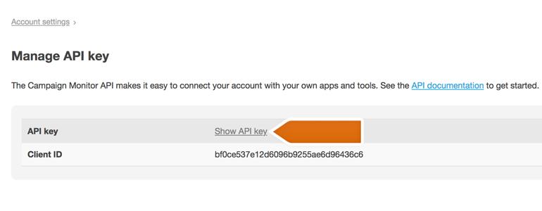 Getting the API key
