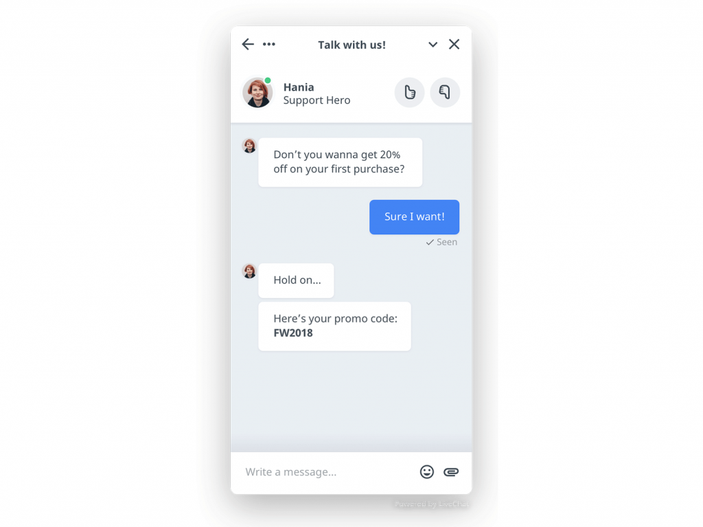 Chat widget redesign
