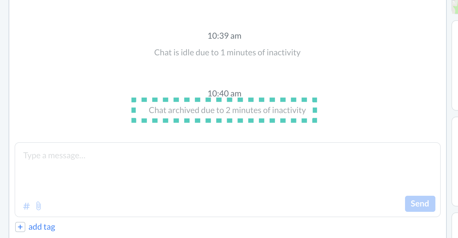 Close the chat due to inactivity