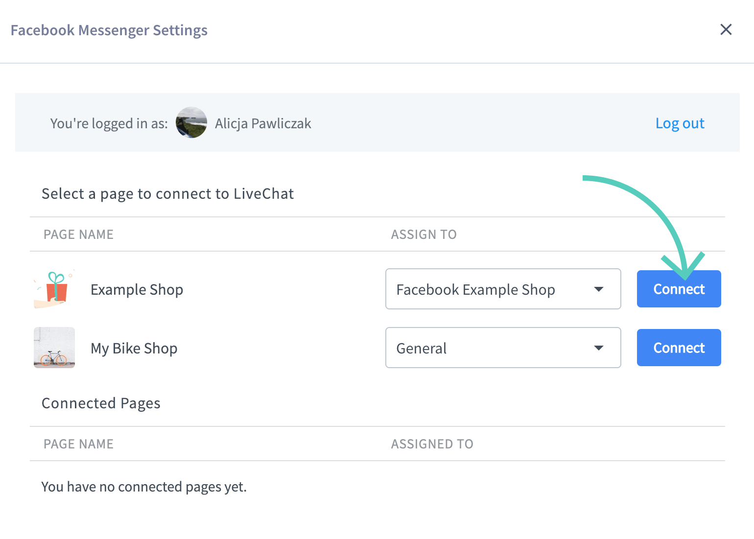 Connect your Livechat account to Facebook Messenger