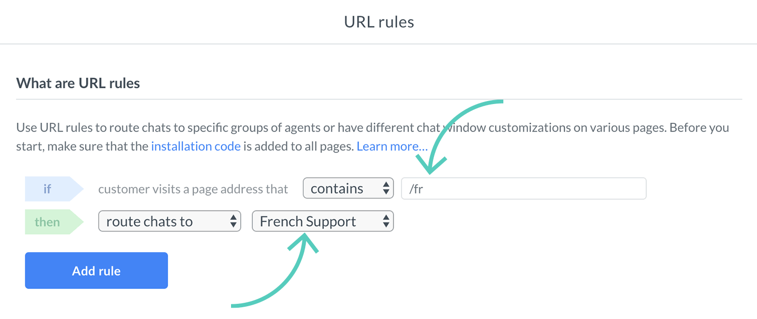 Customize language settings for a group