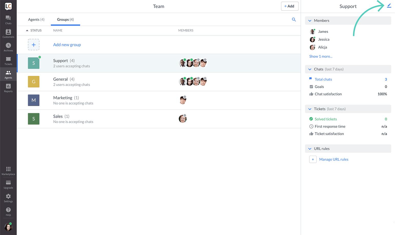 Edit group icon