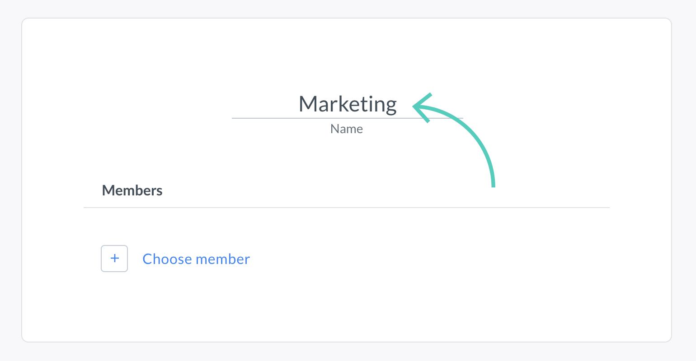 Enter name of a group